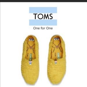 TOMS Big Bird Faux Leather Slip ons
